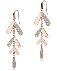 Emporio Armani - Abstract Leaves Drop Earrings - Lyst