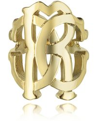 Roberto Cavalli | Rc Lux Gold Tone Ring | Lyst