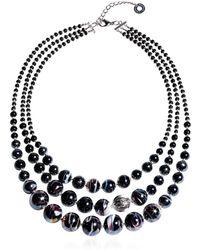 Antica Murrina - Optical 1 Top - Black Murano Glass Choker - Lyst