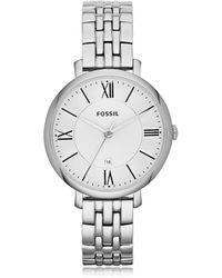 Fossil - Jacqueline Stainless Steel Women's Watch - Lyst
