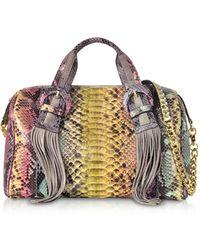 Ghibli - Multicolor Python Leather Shoulder Bag - Lyst