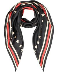 Givenchy | 17 Stars Print Silk Square Scarf | Lyst