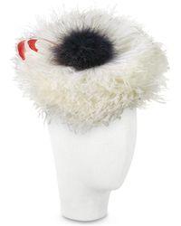 Nana' - Abigail - Ivory Ostrich Feather Headdress - Lyst