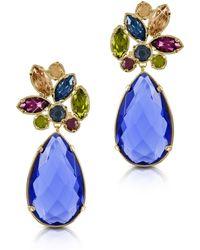 FORZIERI - Crystal Drop Earrings - Lyst