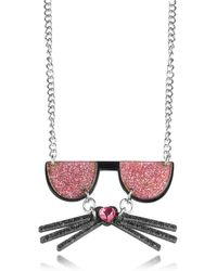 Karl Lagerfeld | K/kocktail Necklace W/glitter Effect | Lyst