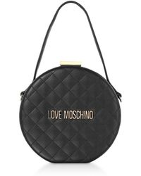 bc3066e41f9 Love Moschino Nude Quilted Eco Leather Shoulder Bag in Natural - Lyst