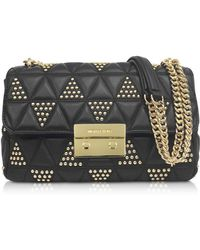 Michael Kors - Sloan Large Studded Leather Shoulder Bag - Lyst