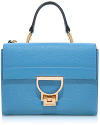 Coccinelle - Sky Blue Pebbled Leather Arlettis Mini Bag W/shoulder Strap - Lyst