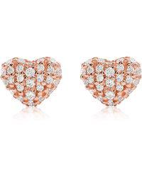 Michael Kors - Premium Rose Gold Earring - Lyst