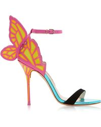Sophia Webster - Black & Magenta Chiara Sandals - Lyst