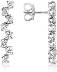 FORZIERI - 1.06 Ctw Drop Diamond 18k Gold Earrings - Lyst