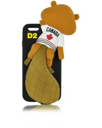 DSquared² - Black Silicone Iphone 6 Cover - Lyst