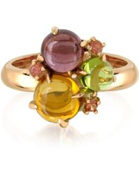Mia & Beverly | Gemstones 18k Rose Gold Ring | Lyst