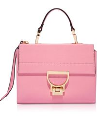 Coccinelle - Arlettis Sorbet Pink Leather Mini Bag - Lyst