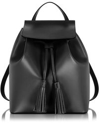 Le Parmentier - Black Leather Backpack - Lyst