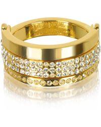 Vita Fede Bardot Gold Tone Ring W/crystals
