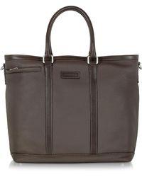 Chiarugi - Dark Brown Large Leather Tote - Lyst
