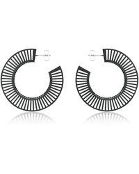 Vojd Studios - Phase Black Hoop Earrings - Lyst