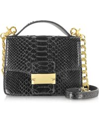 Ghibli - Black Python Leather Shoulder Bag - Lyst