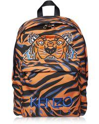 KENZO - Tiger Print Backpack - Lyst