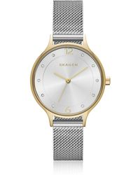 Skagen - Anita Two-tone Steel-mesh Women's Watch - Lyst