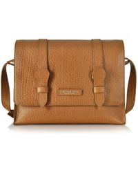 The Bridge - Embossed Leather Messenger - Lyst