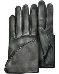 Pineider - Women's Black Short Nappa Gloves W/ Silk Lining - Lyst