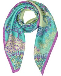 Mila Schon | Seahorses And Coral Reefs Print Twill Silk Square Scarf | Lyst