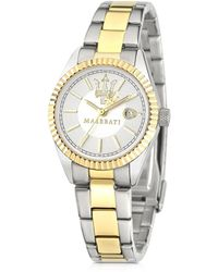 Maserati - Competizione Silver Dial Two Tone Stainless Steel Women's Watch - Lyst