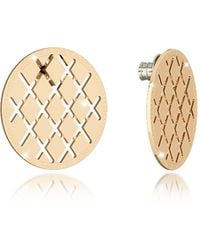 Rebecca - Melrose Yellow Gold Over Bronze Stud Earring - Lyst