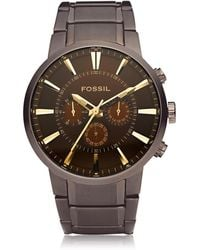 Fossil - Others Brown Stainless Steel Men's Chronograph Watch - Lyst