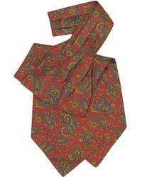 FORZIERI - Large Paisley Print Silk Ascot - Lyst