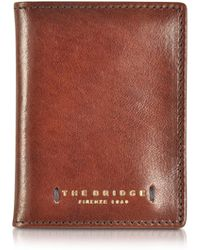 The Bridge - Dark Brown Leather Card Holder - Lyst