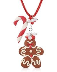 Dolci Gioie - Candy Cane & Gingerbread Man Necklace - Lyst