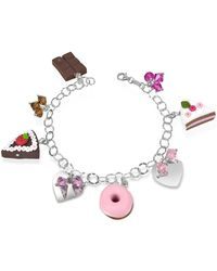 Dolci Gioie - Sterling Silver Charm Bracelet - Lyst