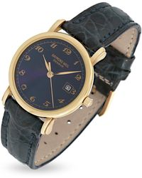 Raymond Weil | Blue Dial 18k Gold And Croco Leather Dress Watch | Lyst