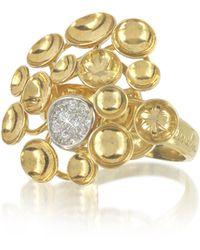 Orlando Orlandini - 18k Yellow Gold Bouquet Ring W/diamond - Lyst