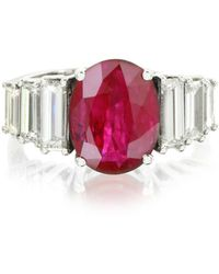 FORZIERI - Ruby And Diamond White Gold Ring - Lyst