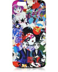 DSquared² Multicolour Manga Print Silicone Iphone 6 Cover