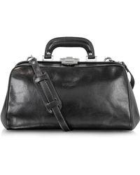 Chiarugi - Black Leather Handmade Professional Doctor Bag - Lyst