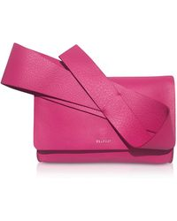 Delpozo - Fuxia Leather Orchid Clutch - Lyst
