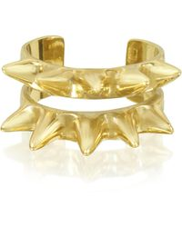 Bernard Delettrez - Double Band Bronze Ring W/spikes - Lyst