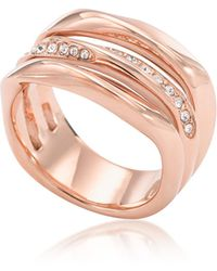 Fossil - Rose Goldtone Stainless Steel Classics Women's Ring W/strass - Lyst
