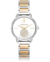 Michael Kors - Portia Two-tone Stainless Steel Women's Watch - Lyst