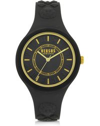 Versus - Fire Island Silicon And Gold Tone Stainless Steel Women's Watch - Lyst
