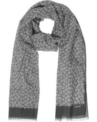 Lanvin - Paisley Print Cotton Blend Men's Long Scarf W/fringes - Lyst