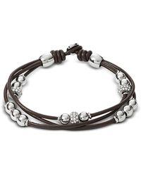 Fossil - Chocolate Rondel Wrist Wrap Women's Bracelet - Lyst