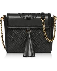 Tory Burch - Fleming Convertible Quilted Leather Box Crossbody Bag - Lyst