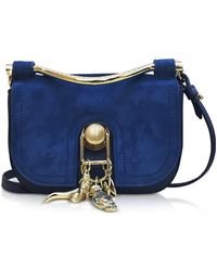 Carven - Suede And Leather Misti Crossbody Bag - Lyst