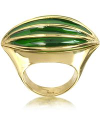 Bernard Delettrez - Bronze Poison Ring W/eye - Lyst